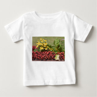 Flowerbed of coneflowers and begonias baby T-Shirt