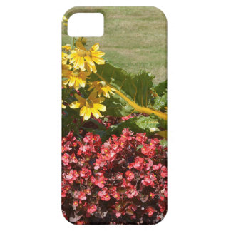 Flowerbed of coneflowers and begonias case for the iPhone 5