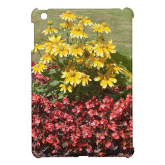 Flowerbed of coneflowers and begonias iPad mini covers