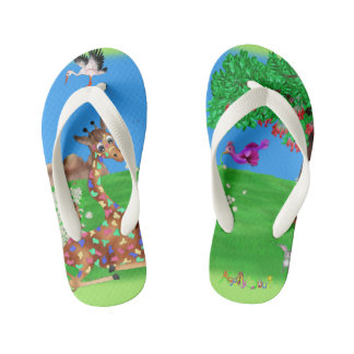 Flowerchain by The Happy Juul Compa Kid's Flip Flops