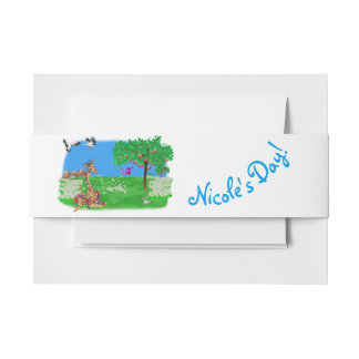 Flowerchain by The Happy Juul Company Invitation Belly Band