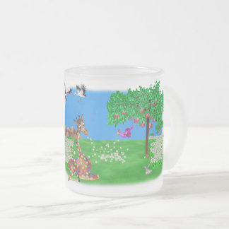 Flowerchain Rainbow & Lila The Happy Juul Company Frosted Glass Coffee Mug