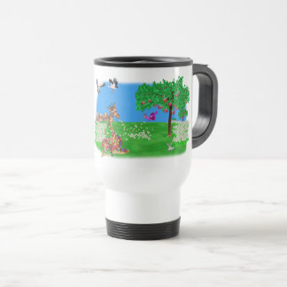 Flowerchain Rainbow & Lila The Happy Juul Company Travel Mug