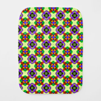 FLOWERED CHECK BABY BURP CLOTHS