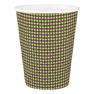 FLOWERED CHECK PAPER CUP