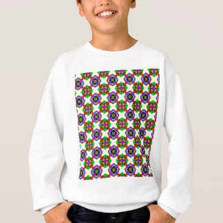 FLOWERED CHECK SWEATSHIRT