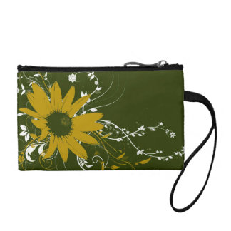 Flowered Clutch Purse