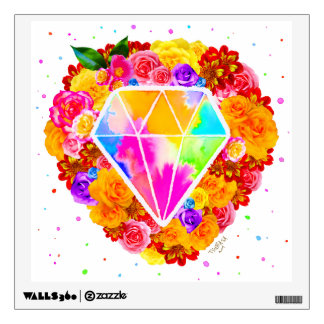 Flowered Diamond Wall Decal