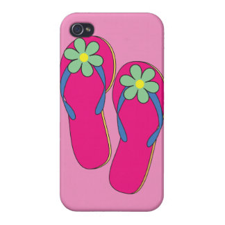 Flowered Flip Flops iPhone Case Cover For iPhone 4