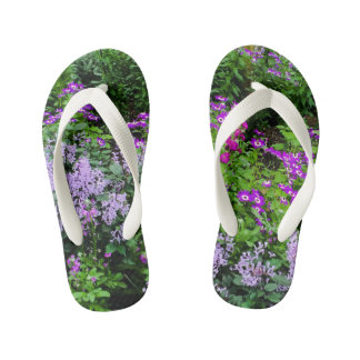 flowered flip-flops kid's flip flops