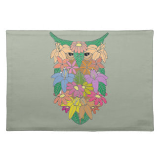Flowered Owl Placemat