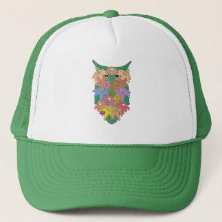 Flowered Owl Trucker Hat