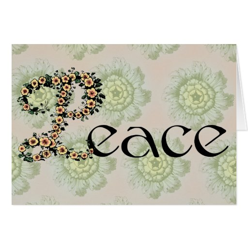 Flowered Peace Greeting Cards