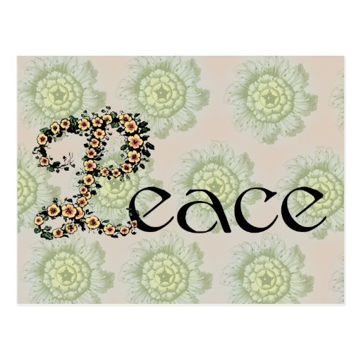 Flowered Peace Post Cards
