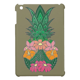 Flowered Pineapple Case For The iPad Mini