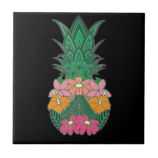 Flowered Pineapple Tile