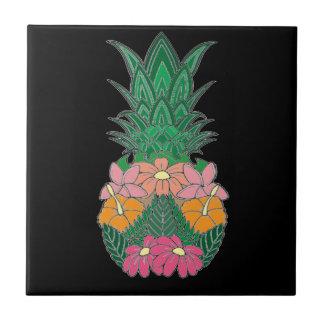 Flowered Pineapple Tile