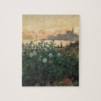 Flowered Riverbank Jigsaw Puzzle