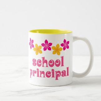 Flowered School Principal Two-Tone Coffee Mug