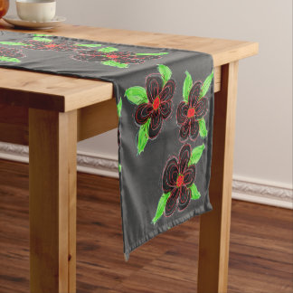 Flowered Table Runner