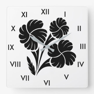 Flowered trio… wall clocks