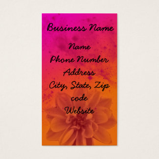 flowerfrontpink, Business Name, Name Phone Numb... Business Card