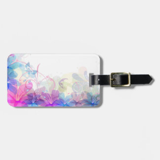 Flowerful Butterfly Abstract Luggage Tag