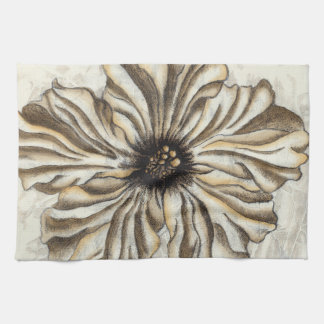 Flowerhead Fresco on Tan Background Kitchen Towel