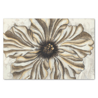 Flowerhead Fresco on Tan Background Tissue Paper