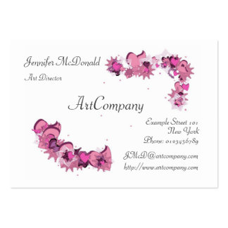 FlowerHearts 02 Large Business Cards (Pack Of 100)