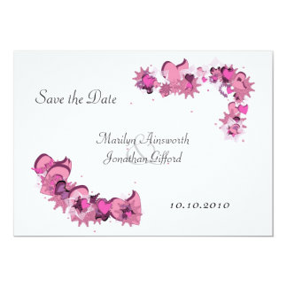 FlowerHearts 02 5x7 Paper Invitation Card