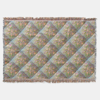 Flowering Apple Throw Blanket