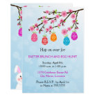 Flowering Branch Easter Eggs Party Card