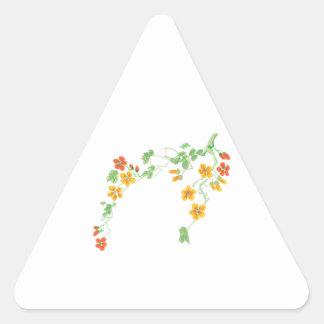 FLOWERING BRANCH TRIANGLE STICKER