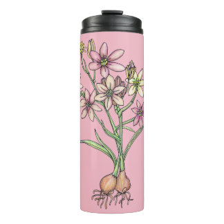 Flowering Bulbs Tumbler in Pinks