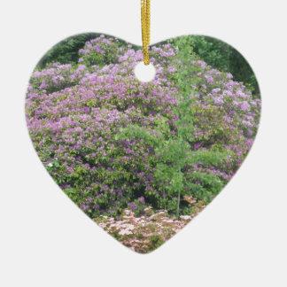Flowering Bush Ceramic Heart Ornament