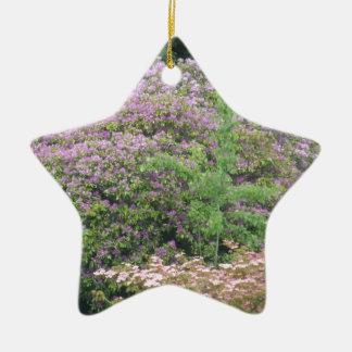 Flowering Bush Ceramic Star Ornament