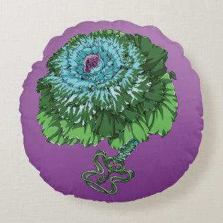 Flowering Cabbage Round Pillow