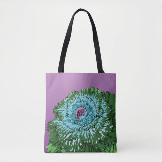 Flowering Cabbage Tote Bag