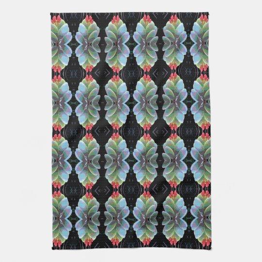 Flowering Cactus Pattern Kitchen Towel