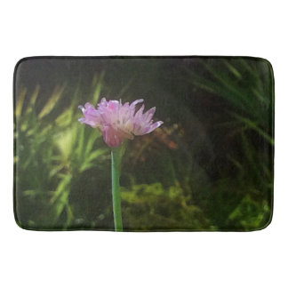Flowering Chives and Palmetto Bathroom Mat