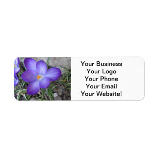 Flowering Crocus Garden Plant Return Address Label