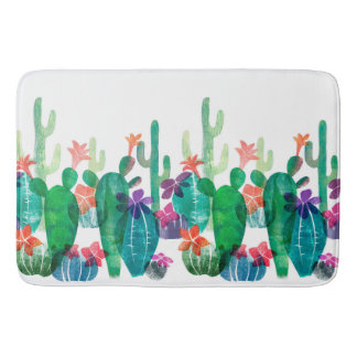 Flowering desert bath mat
