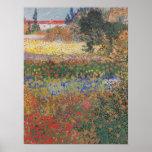 Flowering Garden (1888) by Van Gogh Poster