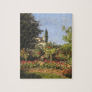 Flowering Garden at Sainte Adresse by Claude Monet Jigsaw Puzzle
