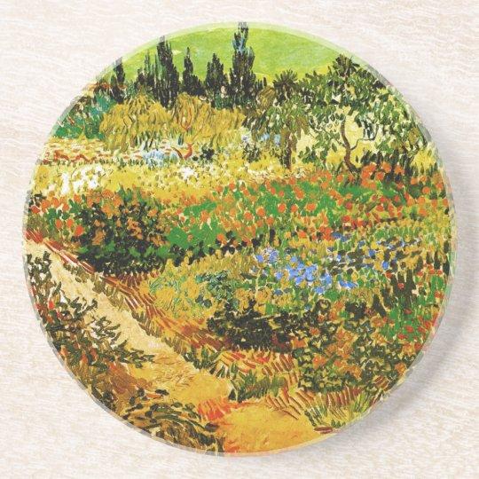Flowering Garden with Path Van Gogh Fine Art Coaster
