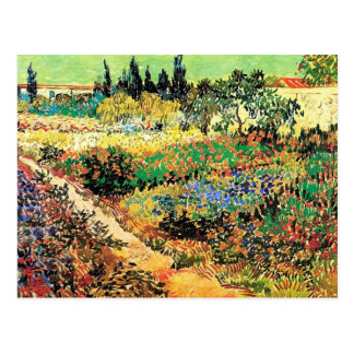 Flowering Garden with Path, Vincent van Gogh Postcard