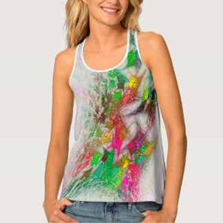 Flowering Graffiti Tank Top