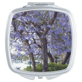 Flowering Jacaranda Trees On River Murray, Compact Mirrors