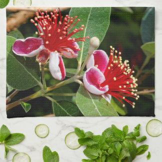 Flowering Pineapple Guava / Guavasteen Kitchen Towel